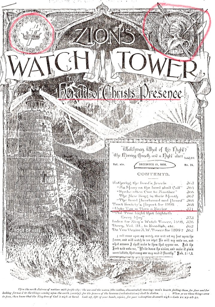 Zion's Watch Tower and Herald  Christ's Presence, December 15, 1898 issue